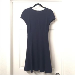 Banana Republic navy blue cap sleeve dress